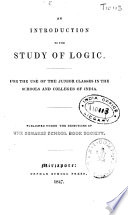 An Introduction to the Study of Logic