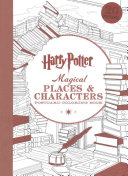 Harry Potter Magical Places   Characters Postcard Coloring Book