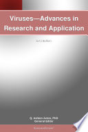 Viruses   Advances in Research and Application  2012 Edition Book