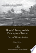 Goethe S Poetry And The Philosophy Of Nature