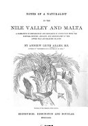 Notes of a Naturalist in the Nile Valley and Malta