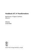 Handbook of C H Transformations
