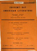 Present day American Literature