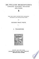 Mr. William Shakespeare's Comedies, Histories, Tragedies and Poems: Tragedies