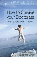 EBOOK  How To Survive Your Doctorate