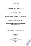 Annals Of The American Pulpit Presbyterian 1859