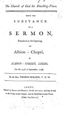 The Church of God His Dwelling-place. Being the Substance of a Sermon [on Ps. Cxxxii. 14], Etc