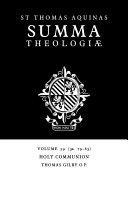 Summa Theologiae: Volume 59, Holy Communion