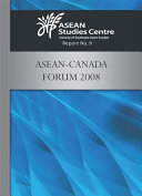 ASEAN Canada Forum 2008 Book