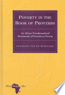 Poverty in the Book of Proverbs