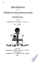 Proceedings of the Liverpool Literary and Philosophical Society