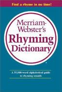 Merriam-Webster's Rhyming Dictionary Pdf/ePub eBook