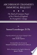 Archbishop Cranmer s Immortal Bequest