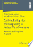 Conflicts  Participation and Acceptability in Nuclear Waste Governance