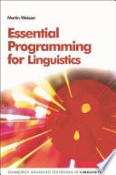 Essential Programming for Linguistics Book