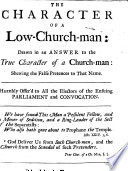 The Character of a Low Church man