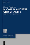 Micah in Ancient Christianity