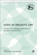 Pdf The Alien in Israelite Law
