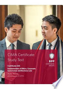 CIMA Fundamentals of Ethics  Corporate Governance and Business Law