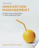 Innovation Management  : Effective Strategy and Implementation