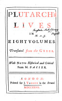 Pdf Plutarch's Lives in Eight Volumes