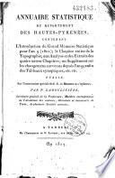 Annuaire statistique du département des Hautes Pyrénées pour l'année ... Pdf/ePub eBook
