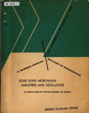 Solid State Microwave Amplifiers and Oscillators