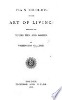 Plain Thoughts on the Art of Living Book