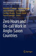 Pdf Zero Hours and On-call Work in Anglo-Saxon Countries