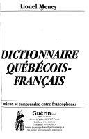 Dictionnaire québécois-français