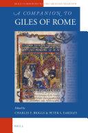 A Companion to Giles of Rome