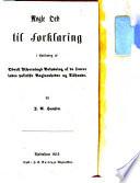 Nogle ord til forklaring, i anledning af oberst Tschernings belysning af de senere indre politiske begivenheder og tilstande