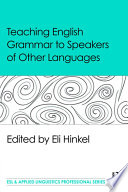 Teaching English Grammar To Speakers Of Other Languages Book PDF