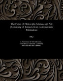 The Focus of Philosophy  Science  and Art