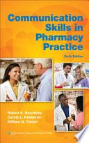 Communication Skills in Pharmacy Practice Book
