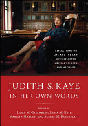 Judith S  Kaye in Her Own Words