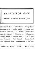 Saints for Now Book PDF