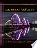 Mathematical Applications for the Management  Life  and Social Sciences Book PDF