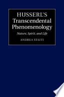 Husserl s Transcendental Phenomenology