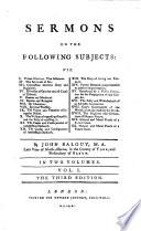 Sermons [&c.]. [41 sermons in all].