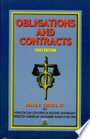 Obligations and Contracts  2003 Ed