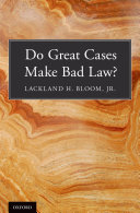 Do Great Cases Make Bad Law? - Seite 283
