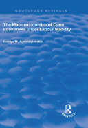 The Macroeconomics of Open Economies Under Labour Mobility Pdf/ePub eBook