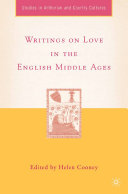 Pdf Writings on Love in the English Middle Ages