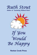 If You Would Be Happy