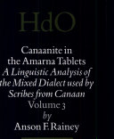 Canaanite in the Amarna tablets. 3. Morphosyntactic analysis of the particles and adverbs