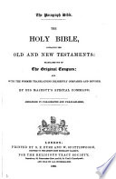 The paragraph Bible  The holy Bible  Arranged in paragraphs and parallelisms Book PDF