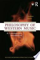 Philosophy of Western Music Book
