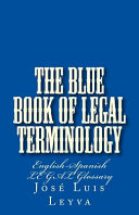 The Blue Book of Legal Terminology