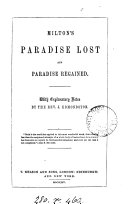 Pdf Milton's Paradise lost and Paradise regained, with notes by J. Edmondston